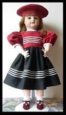 robe & béret poupée ancienne Kestner Jumeau SFBJ dress & hat antique bisque doll