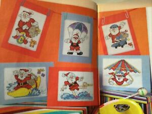 (X9) Comedy Daredevil Santa Claus Cards Christmas Cross Stitch Chart