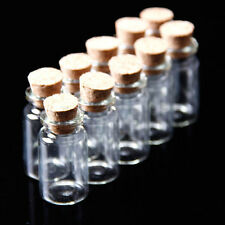10X FIOLES EN VERRE FLACONS BOUTEILLES FIMO PERLES BIJOUX Glass Bottle Vial HG