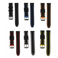 20mm 22mm 24mm 26mm Mens Silicone Watch Band Sport Diver Waterproof Rubber Strap