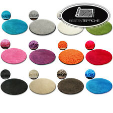 Cheap Shaggy Round Rugs 13 Colours Feltback Twist Bedroom Each Size