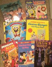 Children's Books Lot Of 7 Cartoon Characters Sponge Bob Little Bill And More