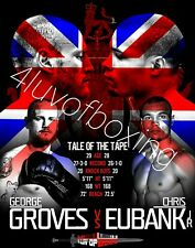 George Groves vs Chris Eubank Jr 4LUVofBOXING Poster New Boxing gym wall art