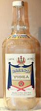Baranof Vodka 100 Proof James Beam Empty Bottle Charcoal Mellowed