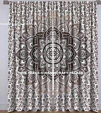 Ombre Mandala Baumwoll Vorhang Ethnisch Tapisserie Fenster hängen handgefertigt