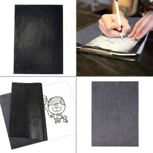 100 Sheets Carbon Transfer Paper A4 Graphite Tracing Drawing Canvas Art Wood