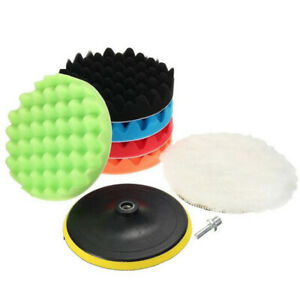8-piece set 5inch Buffing Waxing Polishing Sponge Pads For Car Polisher Drill