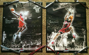 lot (2) LEBRON JAMES ROOKIE POSTER & Carlos Boozer Cleveland Cavaliers Cavs NBA