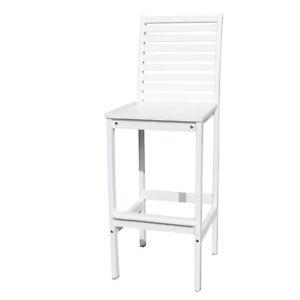 Vifah Bradley Outdoor Bar Chair in White