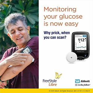 Freestyle Glucose Monitoring Reader with Sensor