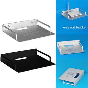 Stand Rack Router Holder Space Saving Mini PC Wall Mount DVD Player TV Box Shelf
