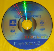 THIS IS FOOTBALL 2003 Ps2 Versione Promo Europea gioco completo TIF » SOLO DISCO