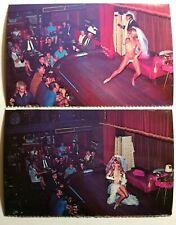 2 Sho-Bar Pin Up Postcards, Bourbon Street Stripper Burlesque New Orleans La
