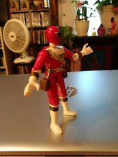 MMPR Power Rangers Zeo Red Ranger 4.5in Action Figure 1996 Bandai Used