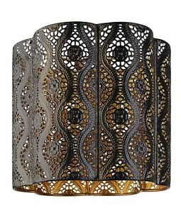 NEW BLACK & GOLD NOCTURNAL MOROCCAN PENDANT LIGHTSHADE LIGHT CEILING LAMP SHADE
