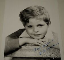 DICKIE MOORE / OUR GANG /  8 X 10  B&W  AUTOGRAPHED  PHOTO