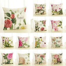 Euro Style Home Decor Cushion Cover Rose Peony Flower Sofa Car Throw Pillow Case
