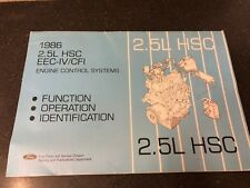 New listing 1986 Ford 2.5L Hsc Eec-Iv/Cfi Engine Control Systems Service Manual Book