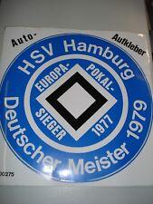 RARITÄT !Auto-Aufkleber Hamburger SV m.d. Erfolgen bis 1979  Fussball Fanartikel