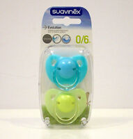SUAVINEX EVOLUTION SOOTHER SILICONE PACIFIER DUMMY M3  +0/6M 2 PZ