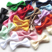 56PCS Satin Ribbon Flowers Bows Appliques Wedding Decor Lots Mix