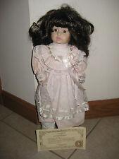 Vintage 1986 Brinn Porcelain Collectible Doll Ashley Pink #2Htl 555 (tag# 212)