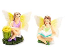 Fairy Garden Miniature ~ Sitting Fairies Set ~ Mini Dollhouse ~ Plant Accessory