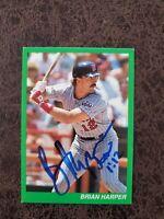 Brian Harper bible card - Minnesota Twins - Autographed!