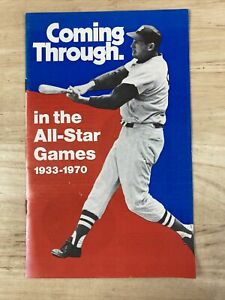 Coming Through. In The All-Star Games 1934-1970 vtg Baseball Pamphlette