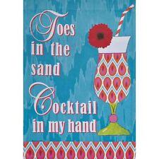 "Toes In The Sand 12.5"" X 18"" Garden Flag 27-2235-181 Flip It! Rain Or Shine Spr"