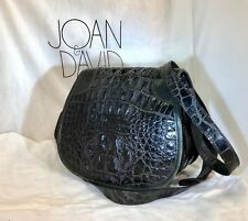 JOAN & DAVID LUXURY DESIGNER HANDBAG-TINGA COLLECTION-BLACK  SADDLE BAG