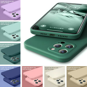 Upgrade Camera Liquid Silicone Case Cover For iPhone 12 Pro Max 11 XS XR X 7 8 6
