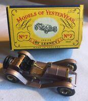 Lesney MATCHBOX Models Of  YesterYear No Y-7 1913 Mercer Type 35 J w/Org Box