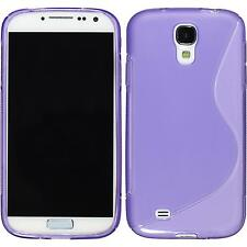 Silicone Case for Samsung Galaxy S4 S-Style purple + protective foils