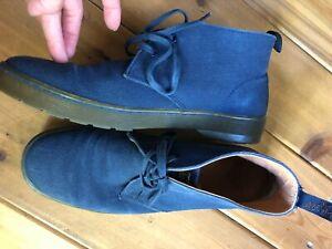 Dr. Martens 12 EU 46 Men's Blue Canvas Oxfords Air Wave Shoe Chukka boot