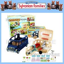 NEW SYLVANIAN FAMILIES CARAVAN + BLUEBELL SEVEN SEATER BUS COMBO SET 5045 4699