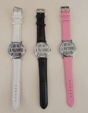 "Fashion Humourous  ""I AM NOT A MORNING PERSON"" Woman Ladies Silver Watch"