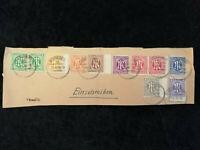 Deutschland Alliierte Besetzung Bizone 20.04.1946 - Briefstück Nürnberg  MIF