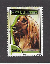 Dog Art Head Study Portrait Postage Stamp Bm Red Afghan Hound Korea 2000 Mnh