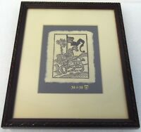 "Vintage 11"" Artisanal Reproduction 1590 Woodcut Medieval Knight Sigil Ride Print"