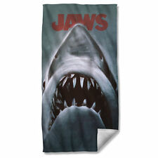 "JAWS - Shark Attack! - Movie Poster design on a 36"" x 58"" Fleece Beach Towel"