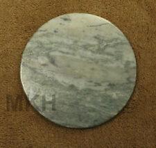 "6"" Natural Green Stone Handmade Cheese Platter Decorative Ceramic Art Piece"