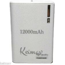 Wallet Style 12000mAh Power Bank (White)