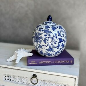 Hamptons Blue Ceramic Ginger Jar