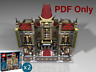 Lego Custom Modular Chinese Cinema Palace 10232 INSTRUCTIONS PDF ONLY
