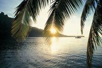 Sunset on Cooks Bay Moorea French Polynesia Photo Art Print Poster 18x12