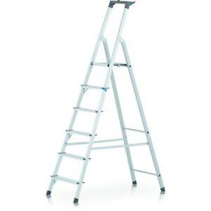 Zarges Scana S  Genietete Stufen-Stehleiter- 3-8 St..einschl.Plattf