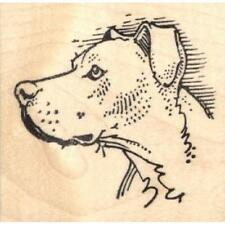 Pit Bull in Profile Rubber Stamp - (RH19202) FREE SHIPPING