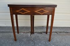 1930's Inlaid Mahogany Gate-Leg Game Table