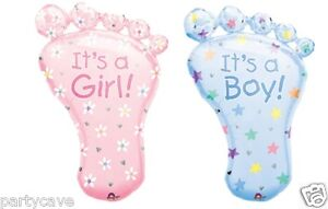 BABY SHOWER PARTY FEET IT'S BOY GIRL SUPERSHAPE HELIUM FOIL BALLOON DECORATION
